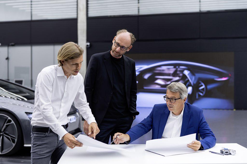 Philipp Römers, Head of Design Exterior; Marc Lichte, Head of Design; Norbert Weber, Head of Design Interior.