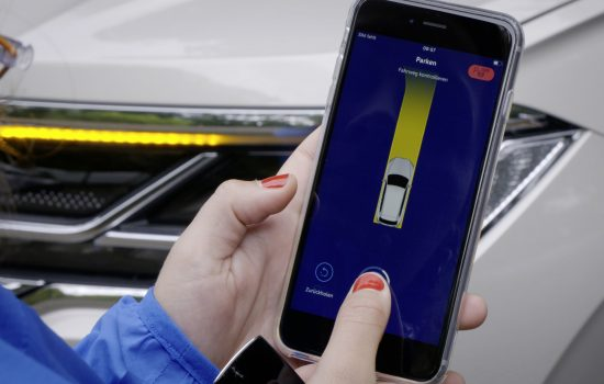 Park-Assist App - Press and hold the parking function.