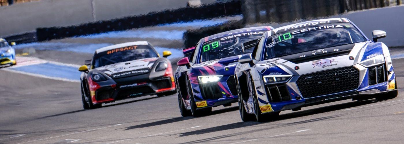 Audi R8 LMS GT4 #42 (Saintéloc Racing), Gregory Guilvert/Fabien Michal