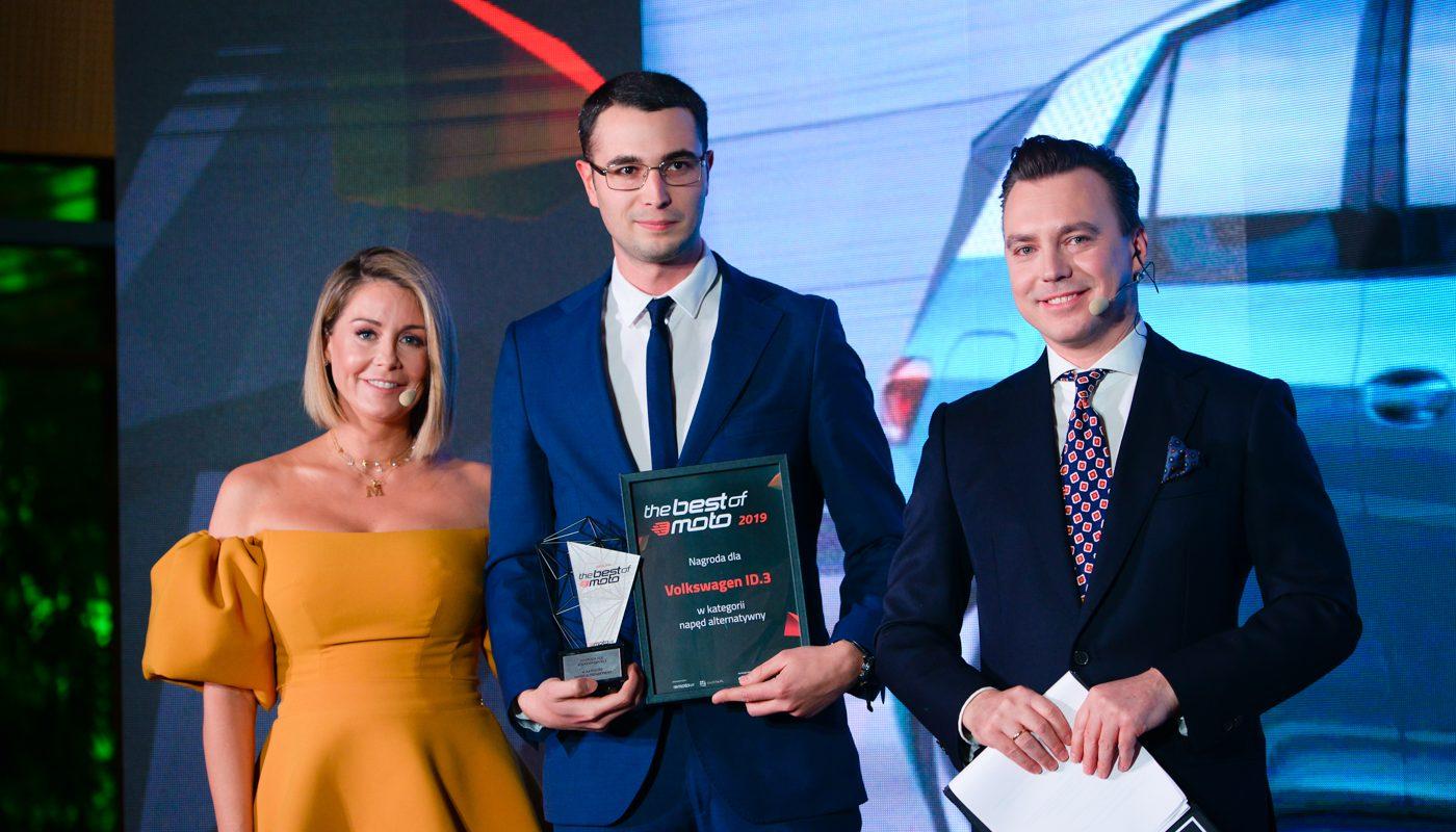 Volkswagen ID.3 zdobywa tytuł Best of moto.pl w kategorii Napęd Alternatywny